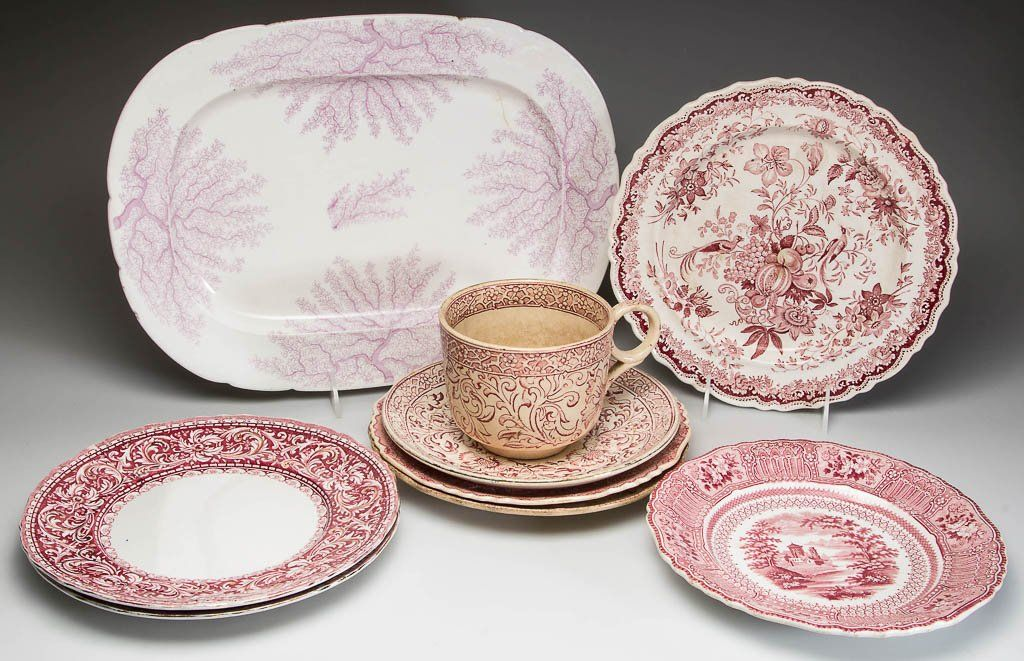 ENGLISH STAFFORDSHIRE POTTERY AND IRONSTONE