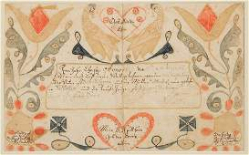 EXTREMELY RARE 1819 ANNA MAGDALENA SCHERERTZ (WYTHE