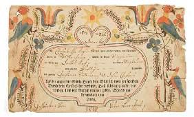 1812 ELIZABETH KOCH COOK ROCKINGHAM CO VA FRAKTUR