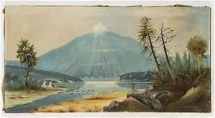 AMERICAN SCHOOL (EARLY 20TH CENTURY) FOLK ART LANDSCAPE