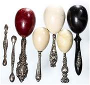 ASSORTED STERLING SILVER HANDLE DARNERS, LOT OF SEVEN