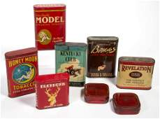 ASSORTED TOBACCO ADVERTISING POCKET TINS LOT OF SIX
