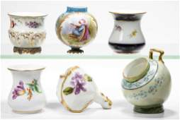 ASSORTED CONTINENTAL PORCELAIN TOOTHPICK HOLDERS AND