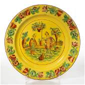 ENGLISH STAFFORDSHIRE POTTERY PEARLWARE CANARY YELLOW