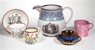ENGLISH STAFFORDSHIRE PORCELAIN AND POTTERY LUSTERWARE