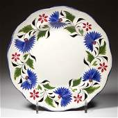 ENGLISH STAFFORDSHIRE POTTERY PEARLWARE MOLDED PLATE