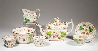 """ENGLISH ENOCH WOOD POTTERY PEARLWARE """"STRAWBERRY"""""""