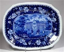 "ENGLISH STEVENSON POTTERY PEARLWARE ""ALMS HOUSE BOSTON"""