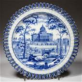 """ENGLISH ROGERS POTTERY PEARLWARE """"BOSTON STATE HOUSE"""""""
