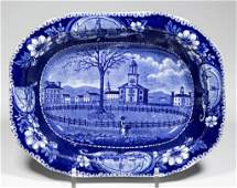 """ENGLISH CLEWS POTTERY PEARLWARE """"WINTER VIEW OF"""