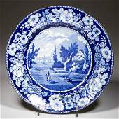 """ENGLISH A. STEVENSON POTTERY PEARLWARE """"NEW YORK FROM"""