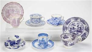 ENGLISH STAFFORDSHIRE PORCELAIN  POTTERY ASSORTED