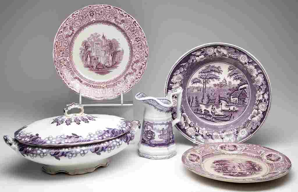 ENGLISH STAFFORDSHIRE IRONSTONE TABLE ARTICLES, LOT OF