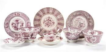 ENGLISH STAFFORDSHIRE POTTERY PEARLWARE AND IRONSTONE