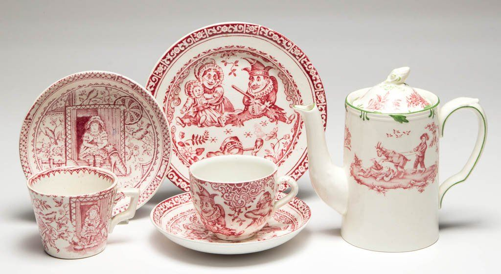 ENGLISH STAFFORDSHIRE POTTERY CHILDREN'S AND OTHER TEA