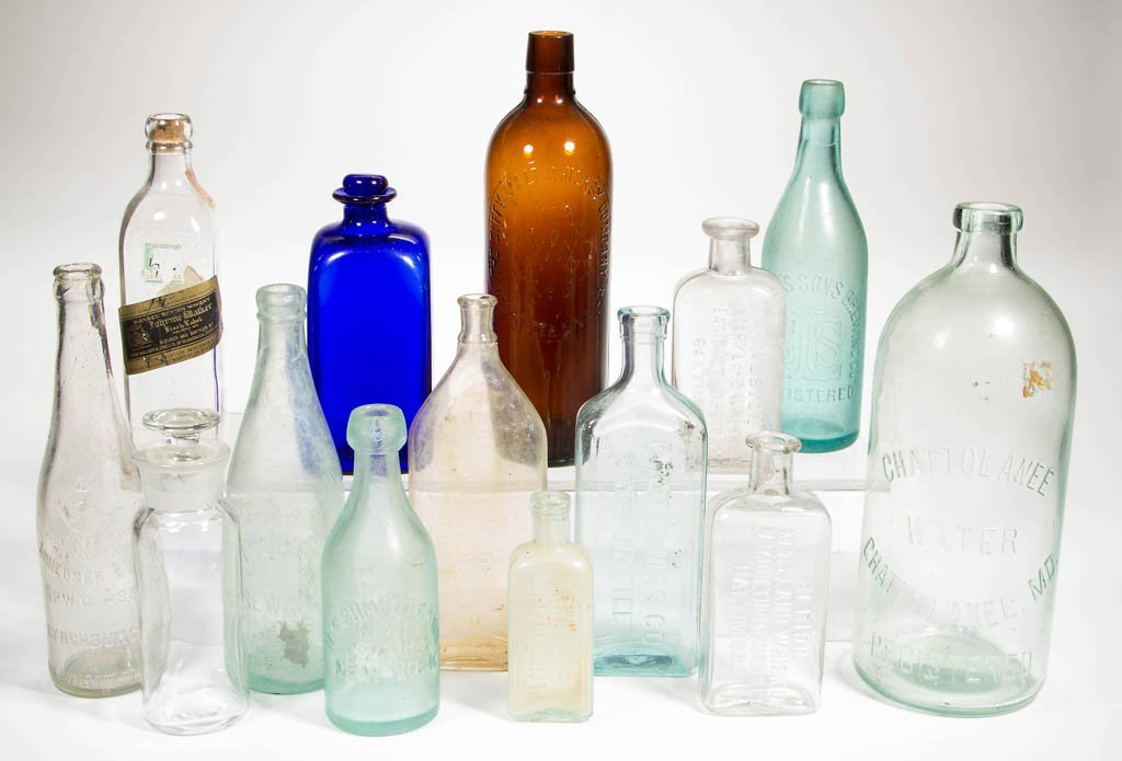 ASSORTED SPRING WATER, SPIRITS, AND OTHER BOTTLES, LOT