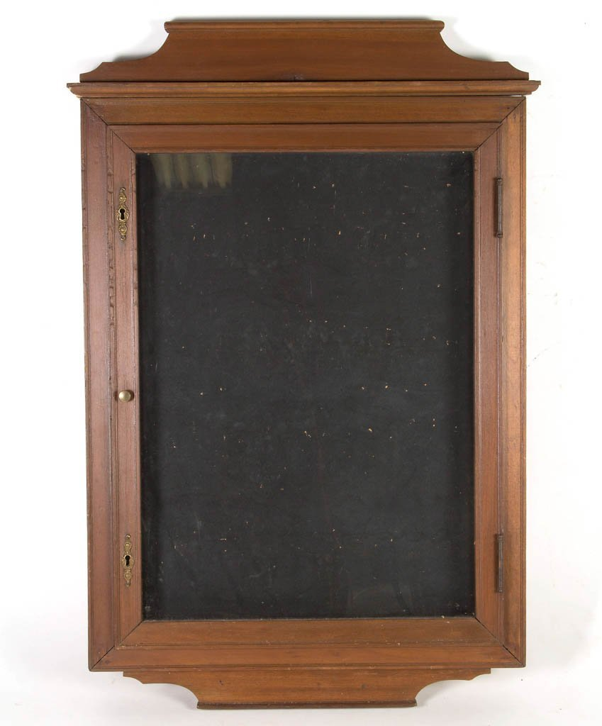 AMERICAN WATCHMAKER'S WALL DISPLAY CASE