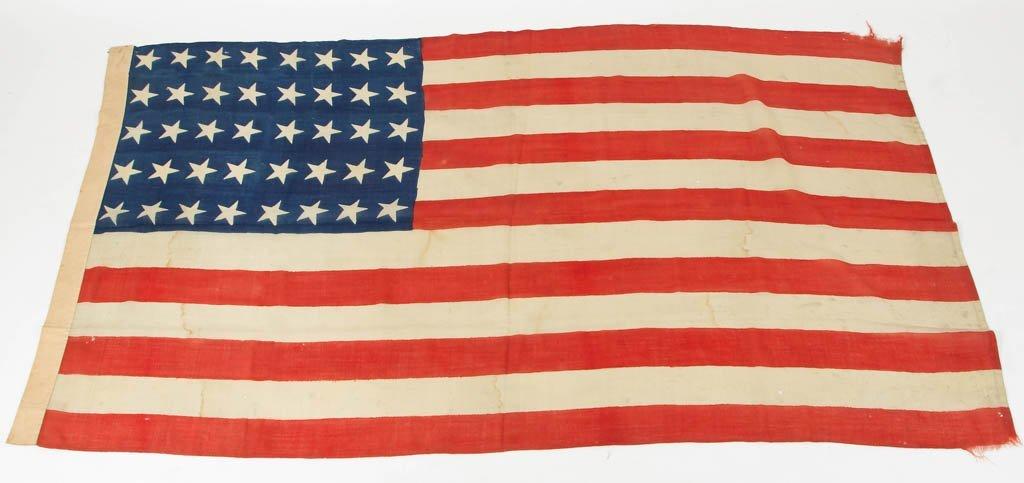 RARE 40-STAR AMERICAN PARADE FLAG