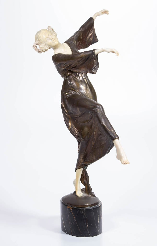 BRUNO ZACH (AUSTRIAN, 1891-1945) ART DECO BRONZE STATUE