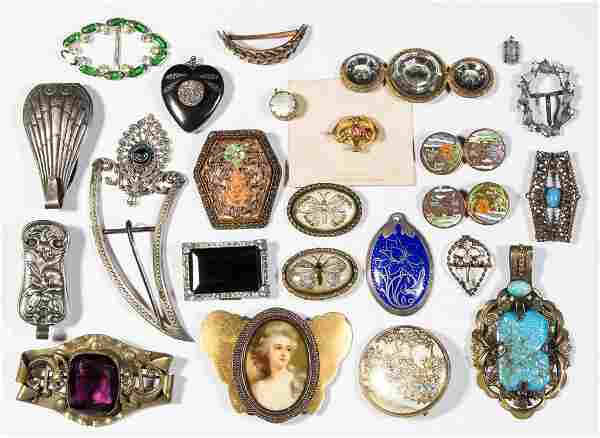 ASSORTED VINTAGE COSTUME JEWELRY, LOT OF 24