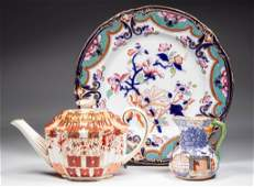 ENGLISH STAFFORDSHIRE PORCELAIN  POTTERY TABLE