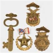 CIVIL WAR UNITED CONFEDERATE VETERANS SOUVENIR PINS,