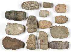 NATIVE AMERICAN STONE TOOLS, LOT OF 14