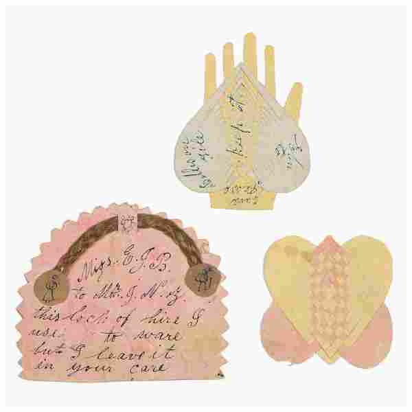 CARROLL CO., MARYLAND CUT-AND-WOVEN PAPER LOVE TOKENS,