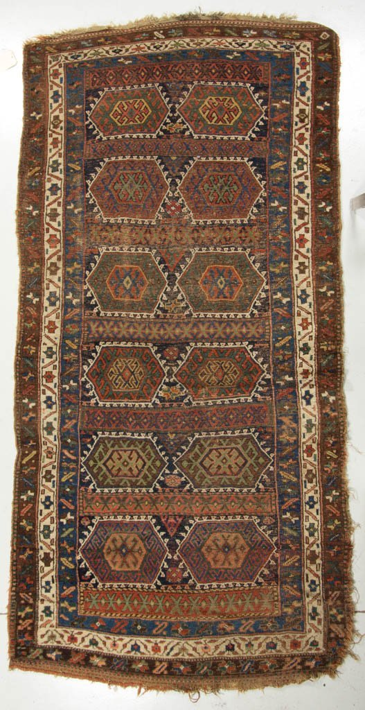 SEMI-ANTIQUE PERSIAN SCATTER RUG