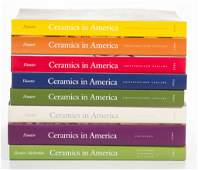 AMERICAN CERAMICS REFERENCE VOLUMES, LOT OF EIGHT