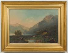 AMERICAN SCHOOL (LATE 19TH CENTURY) LANDSCAPE PAINTING