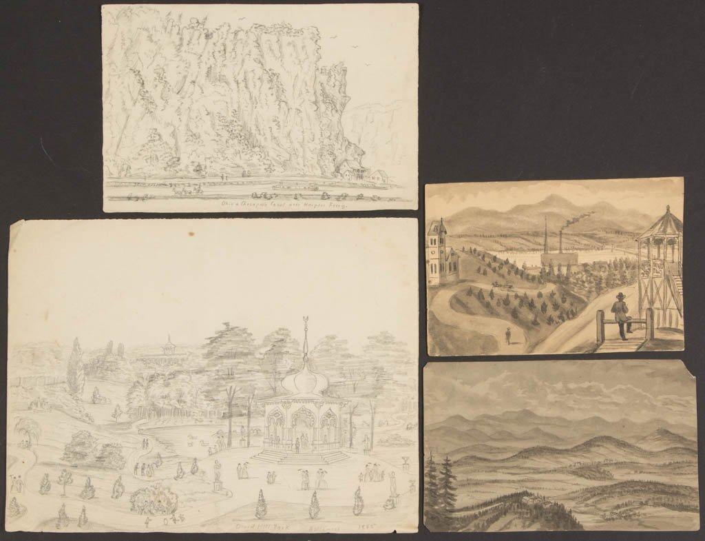 AMERICAN SCHOOL (19TH CENTURY) SOUTHERN SCENES /