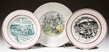 ENGLISH STAFFORDSHIRE POTTERY ABC AND CHILDREN'S