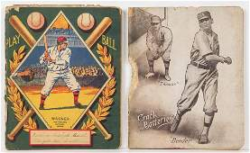 EARLY BASEBALL SCHOOL NOTEBOOKS, LOT OF TWO