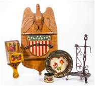 PETER OMPIR 19041979 FOLK ART PAINTED ARTICLES LOT