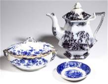 ENGLISH STAFFORDSHIRE TRANSFERWARE POTTERY TEA AND