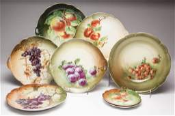 GERMAN PORCELAIN TABLE ARTICLES LOT OF EIGHT
