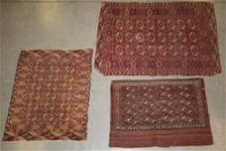 SEMIANTIQUE ORIENTAL SCATTER RUGS LOT OF THREE
