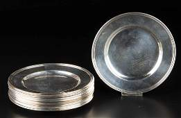 INTERNATIONAL SILVER CO STERLING SILVER BREAD PLATES
