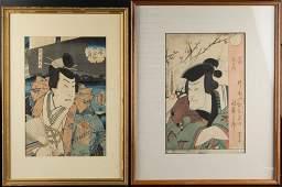 TOYOKUNI III  KUNISADA JAPANESE UKIYOE WOODBLOCK
