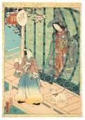 TOYOKUNI III  KUNISADA UTAGAWA UKIYOE WOODBLOCK PRINT