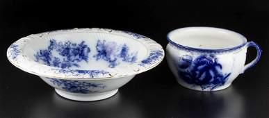 ENGLISH STAFFORDSHIRE IRONSTONE FLOW BLUE GRINDLEY