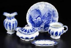 ENGLISH AND CONTINENTAL POTTERY AND PORCELAIN FLOW BLUE