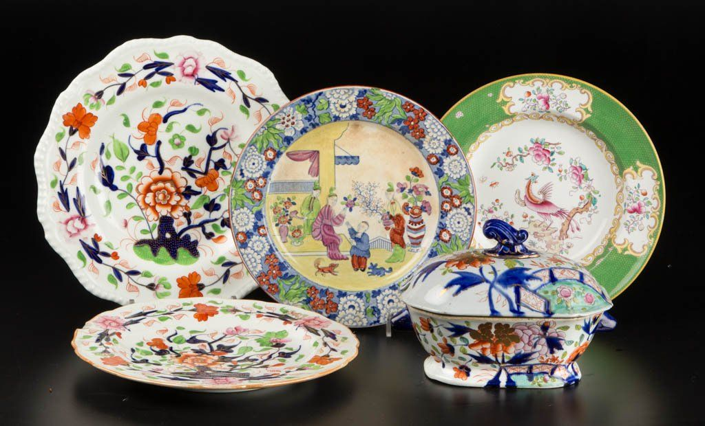 ENGLISH IRONSTONE POTTERY ASSORTED TABLE ARTICLES LOT