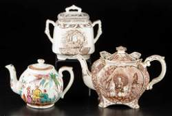 ENGLISH STAFFORDSHIRE POTTERY JAPANESQUE TEA AND