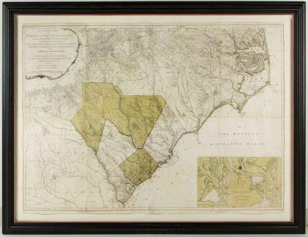 WILLIAM HENRY MOUZON II (SOUTH CAROLINA, 1741-1807) MAP