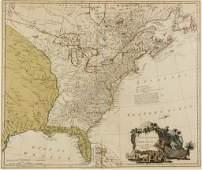 WILLIAM FADEN (BRITISH, 1749-1836) MAP OF THE UNITED