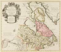 GUILLAUME DELISLE FRENCH 16751726 MAP OF EASTERN
