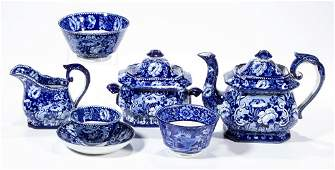 ENGLISH STAFFORDSHIRE POTTERY TRANSFERWARE TEA