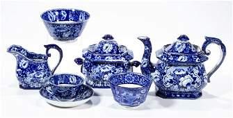 ENGLISH STAFFORDSHIRE POTTERY TRANSFERWARE TEA